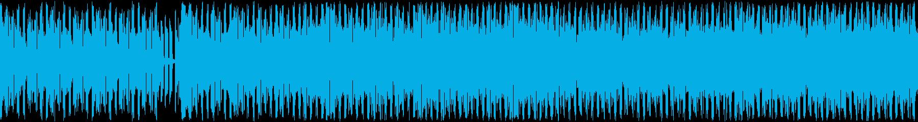 ゲームの準備画面のようなクラブ系BGMの再生済みの波形