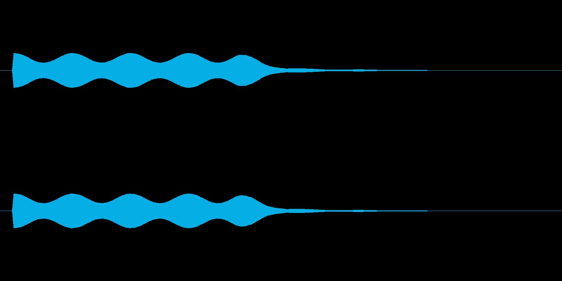 【場面効果音17-1】の再生済みの波形