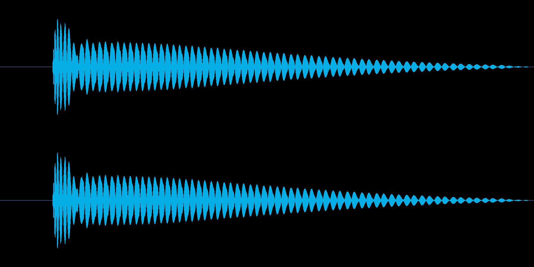 選択不可音の再生済みの波形