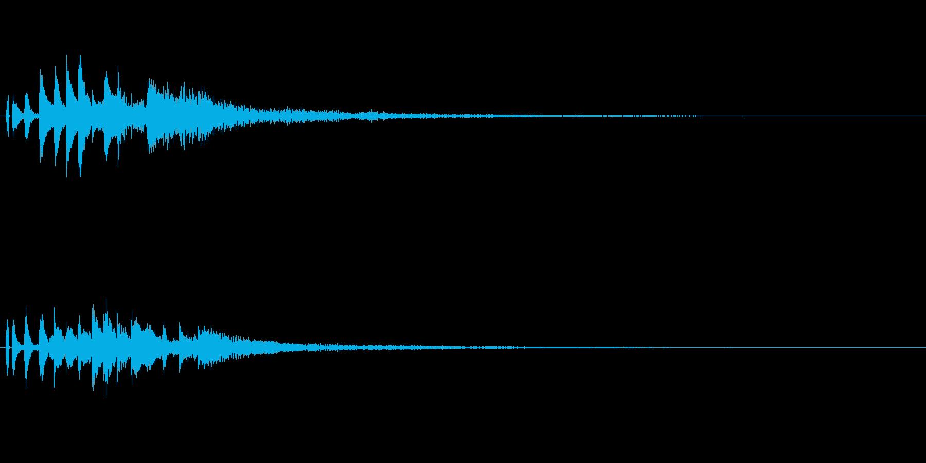 しゃらららー ピアノのグリス音の再生済みの波形