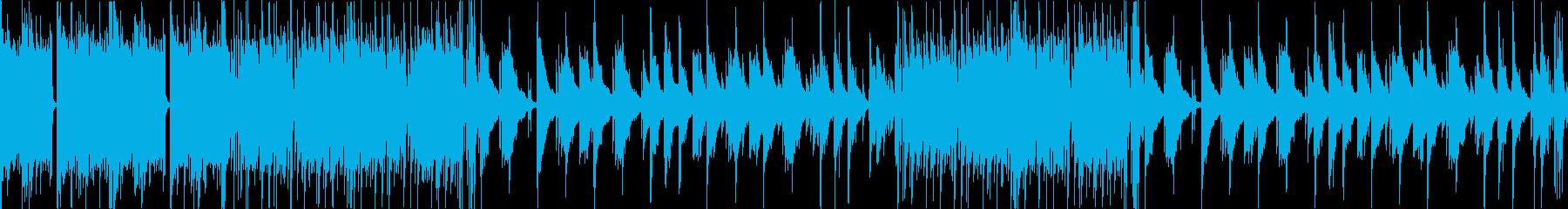 穏やかな映像向けのボサノバ風BGMの再生済みの波形