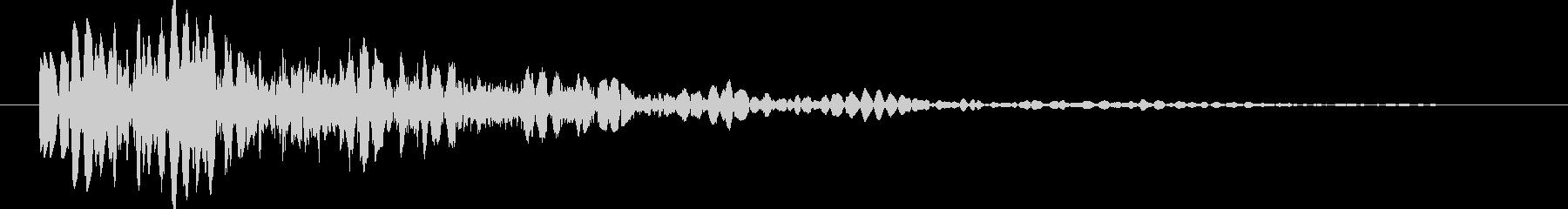 ゲーム ブロック・ロゴ落下 ドコーンの未再生の波形