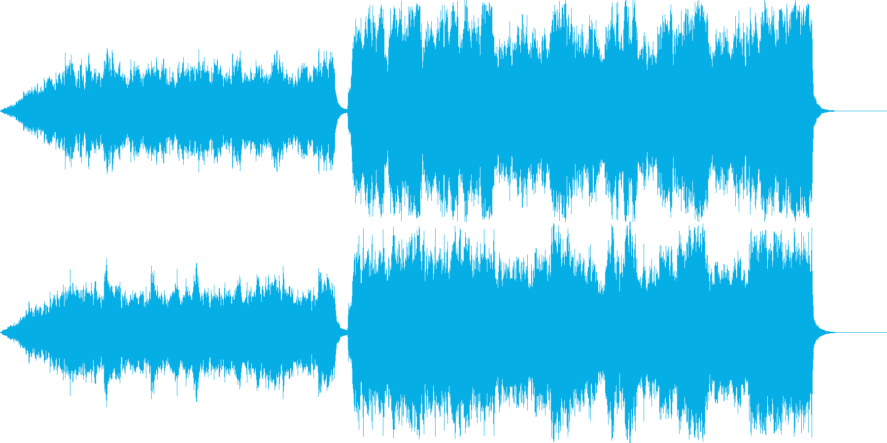 メインとなるメロディを控えた楽曲(序曲)の再生済みの波形