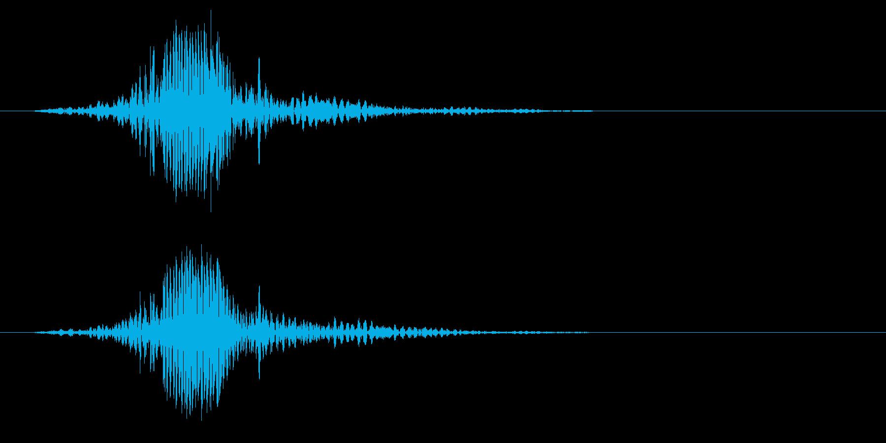 シュッ、という風を切るような効果音の再生済みの波形