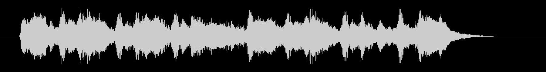 優しく美しいシンセオルガンサウンドの未再生の波形