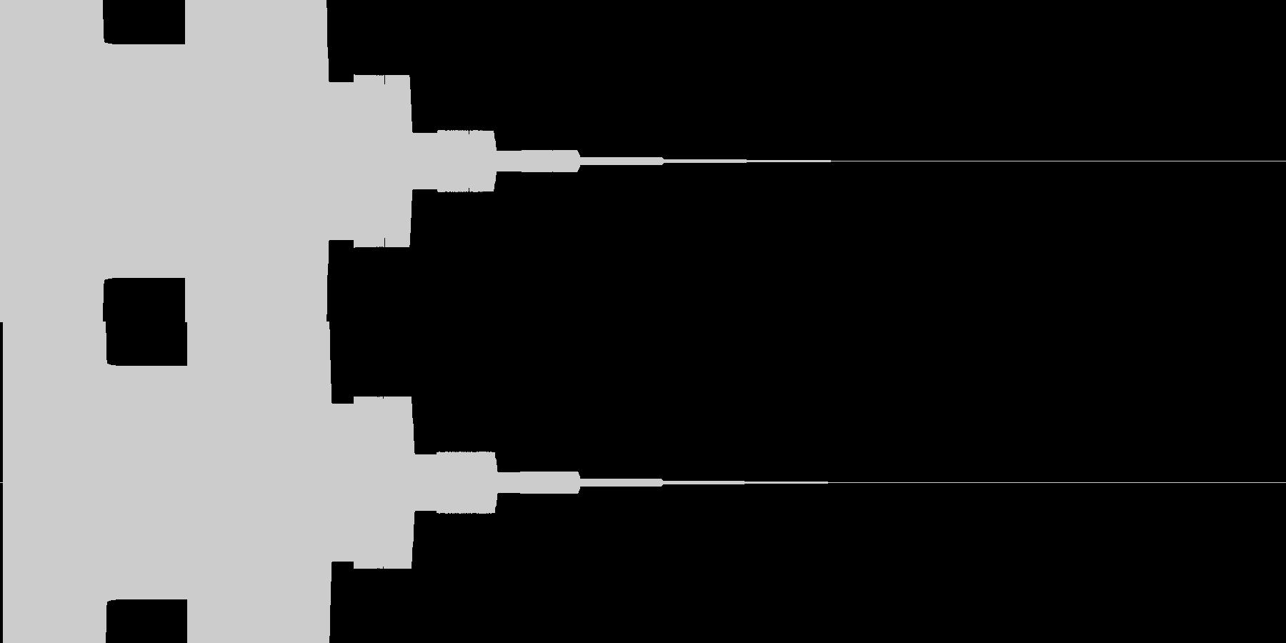 遊技機系 決定音の未再生の波形