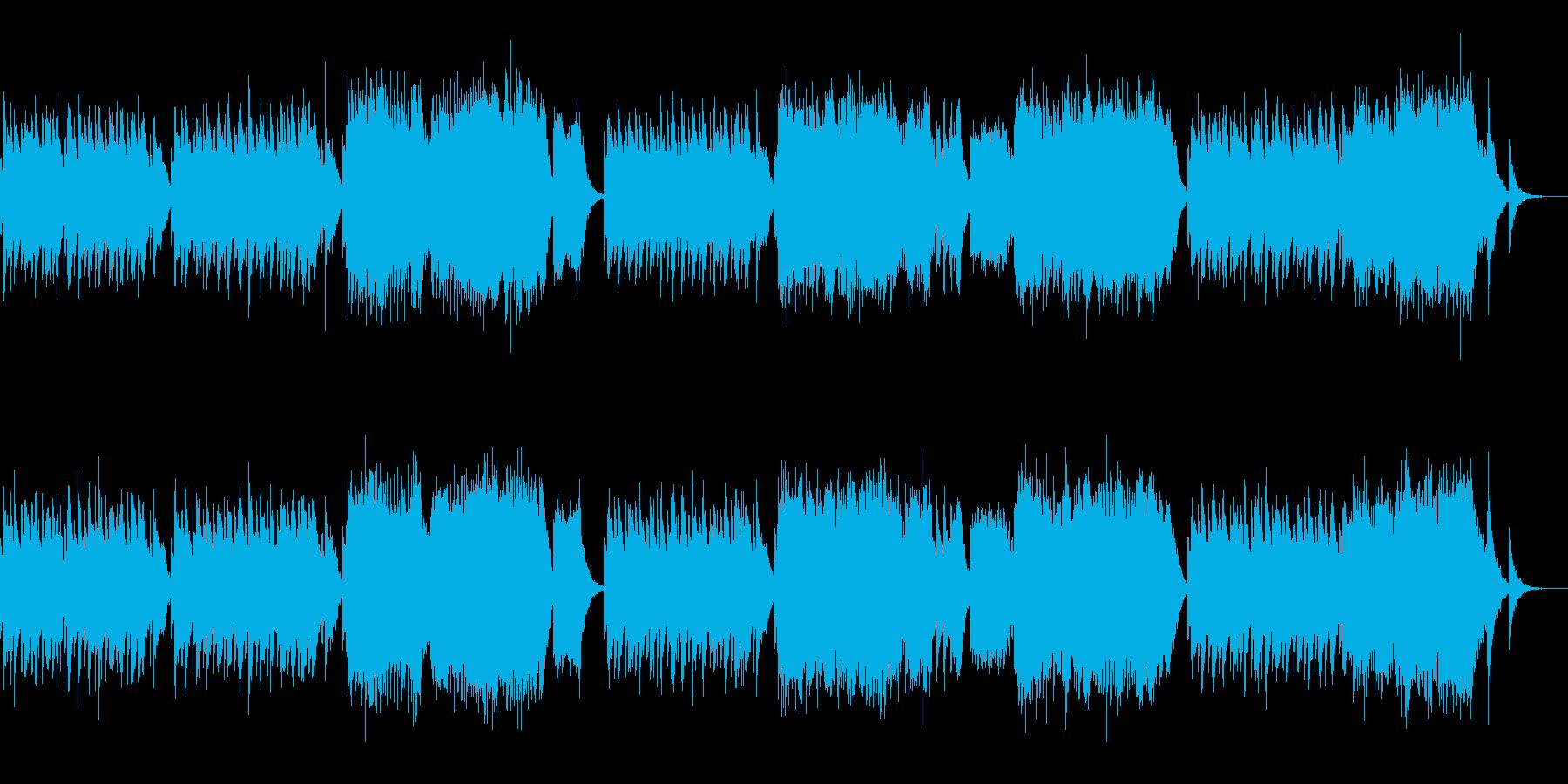 ランゲ作曲「花の歌」のシンセverですの再生済みの波形