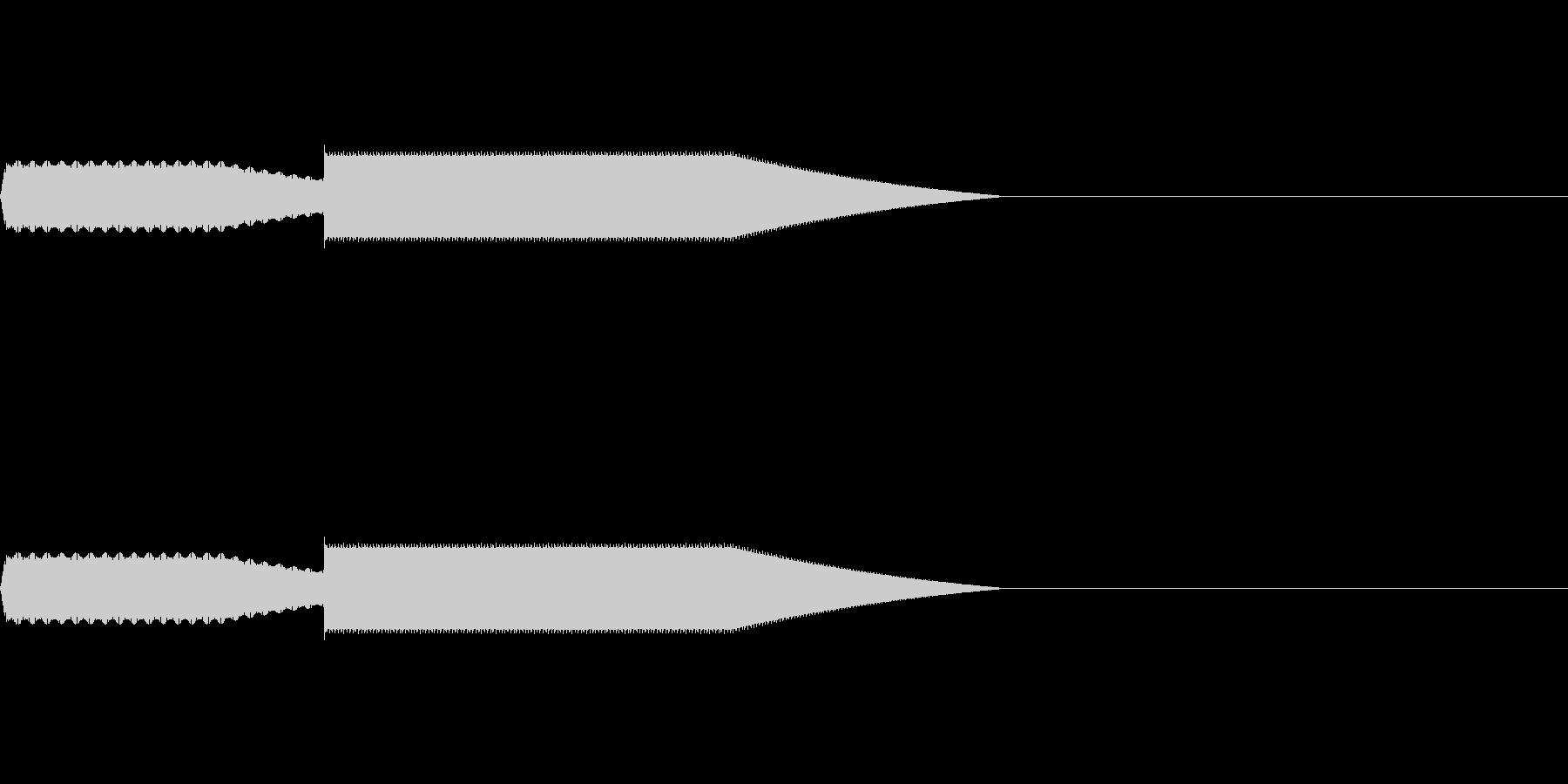 【SE 効果音】効果音その9の未再生の波形