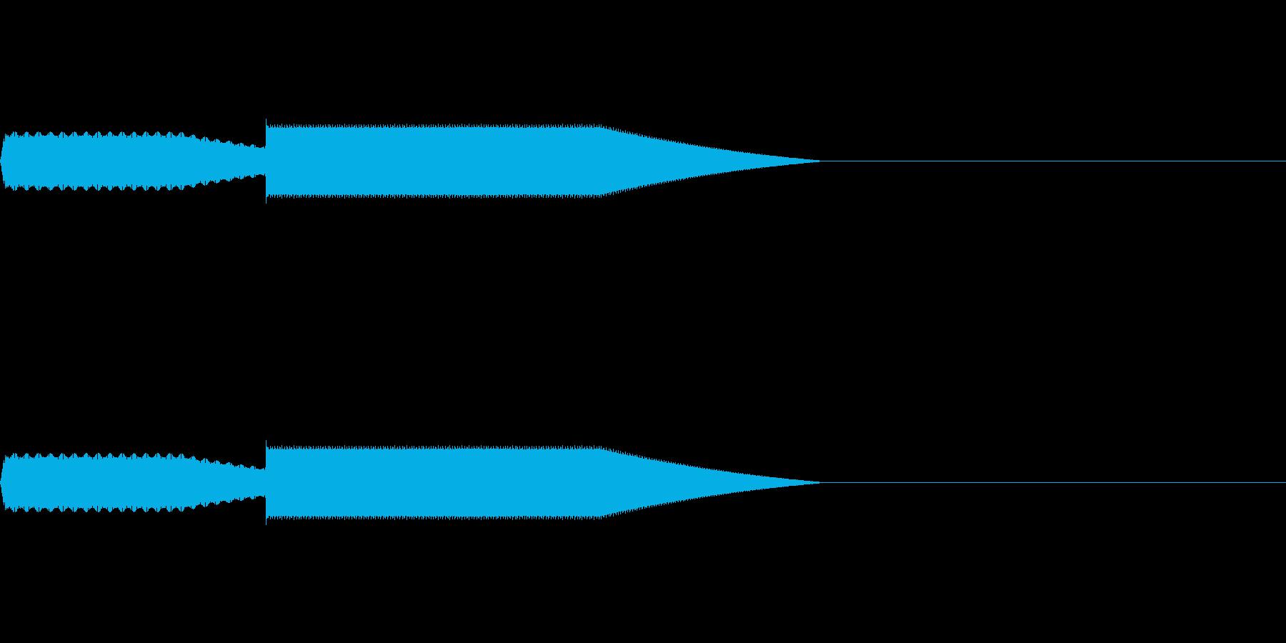 【SE 効果音】効果音その9の再生済みの波形