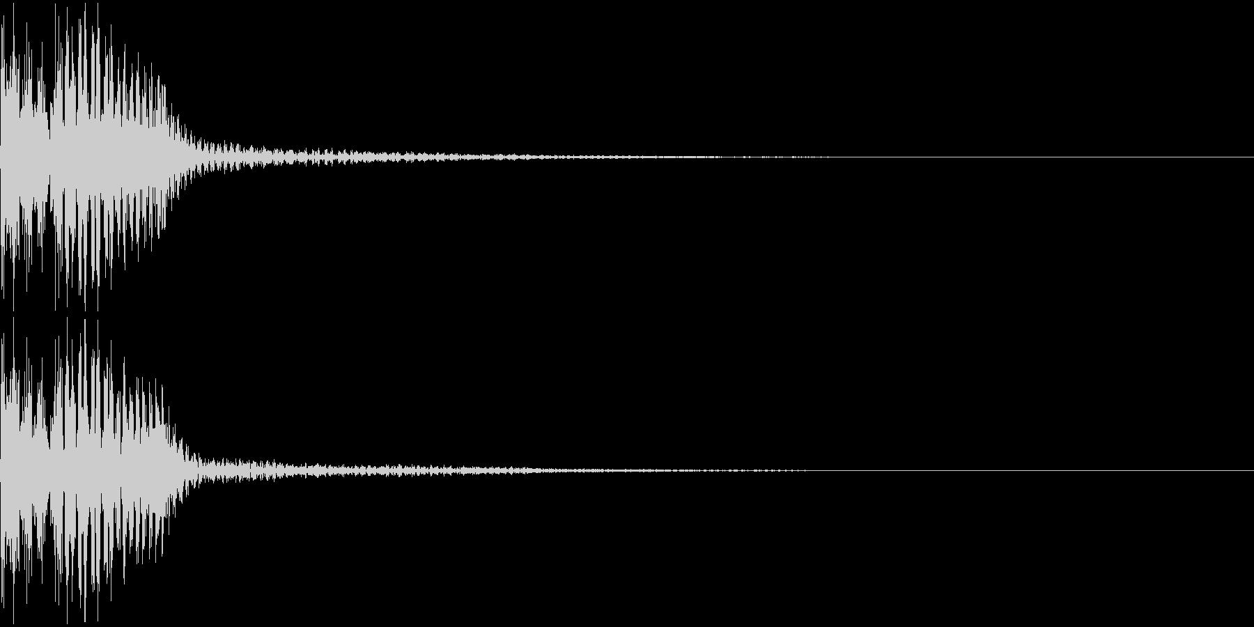 汎用性の高いボタン音 プルン の未再生の波形