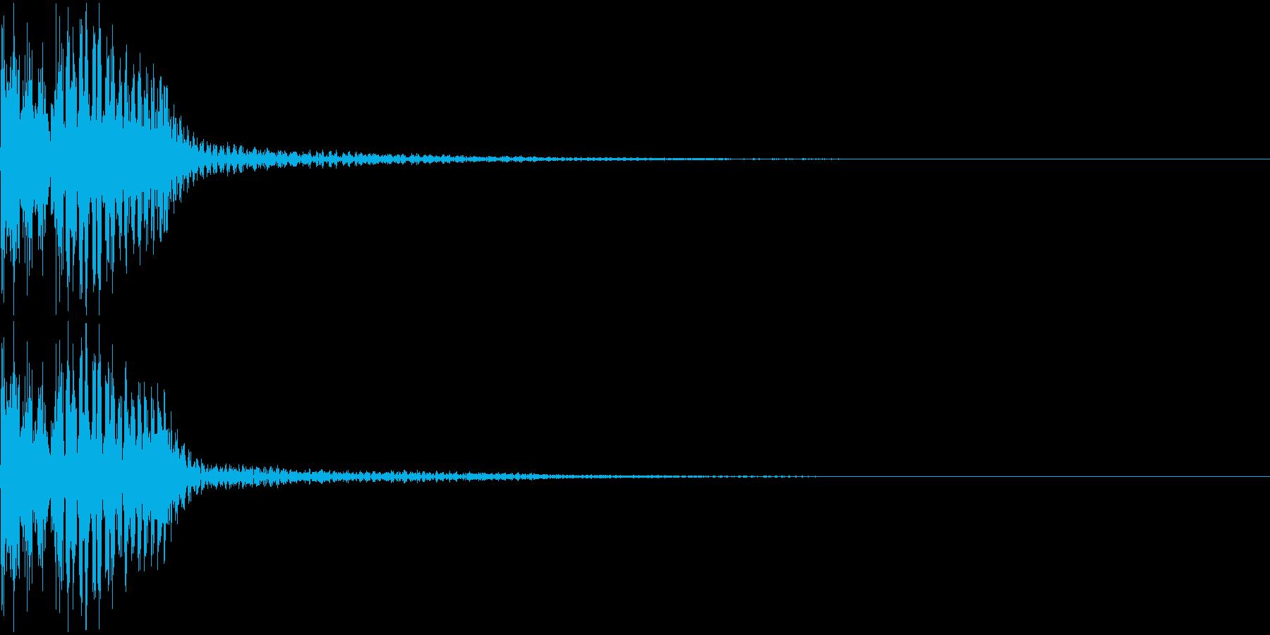 汎用性の高いボタン音 プルン の再生済みの波形