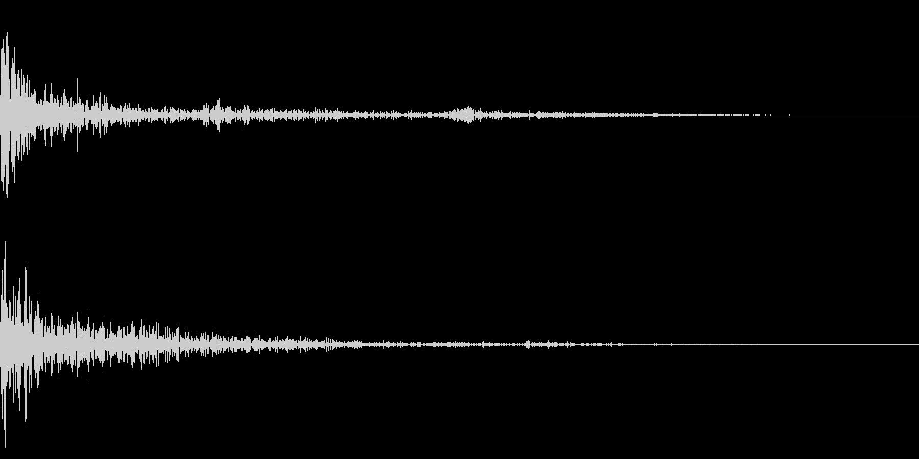 ホラー系アタック音35の未再生の波形