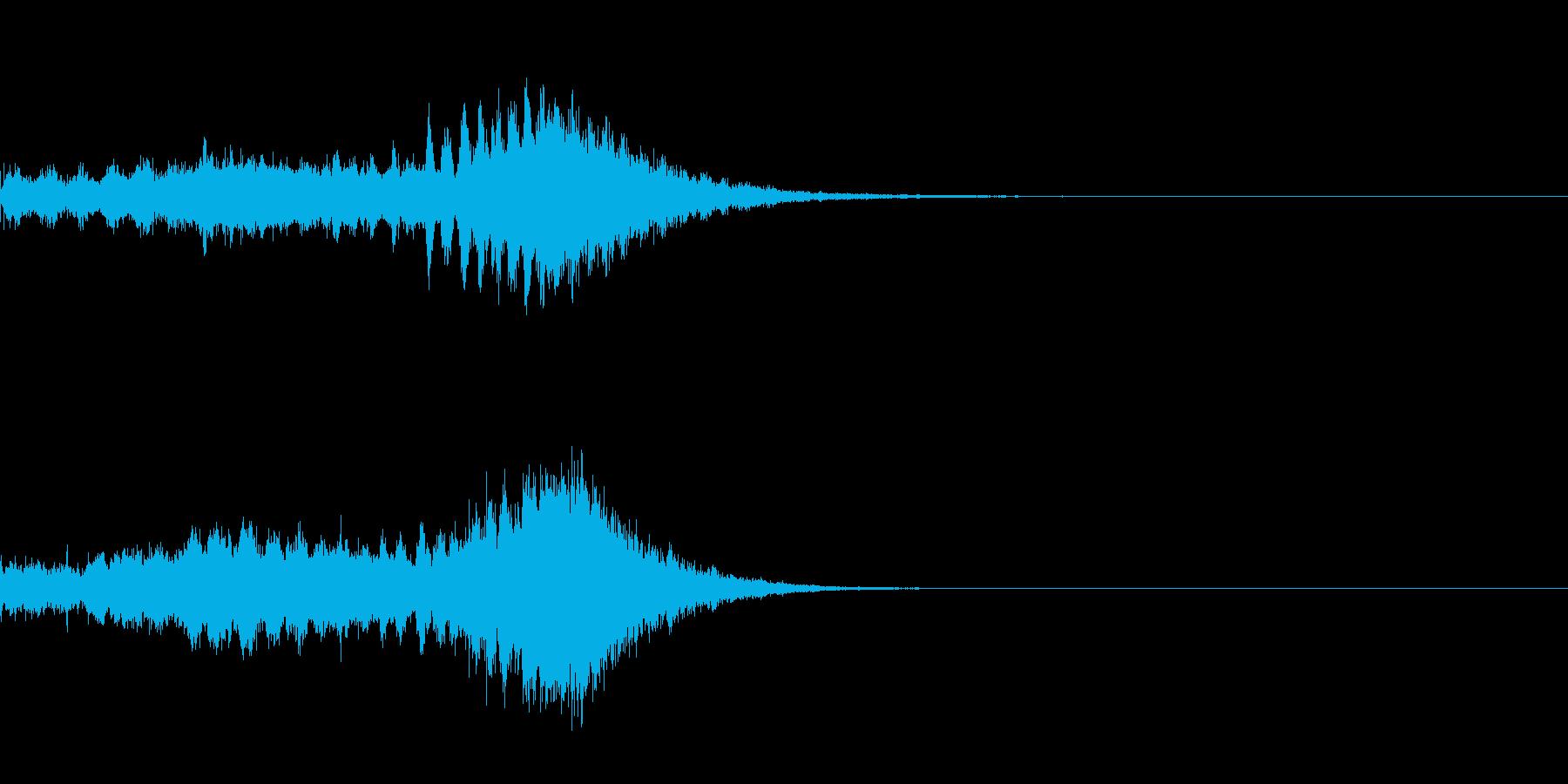 氷系の魔法エフェクト(改)の再生済みの波形