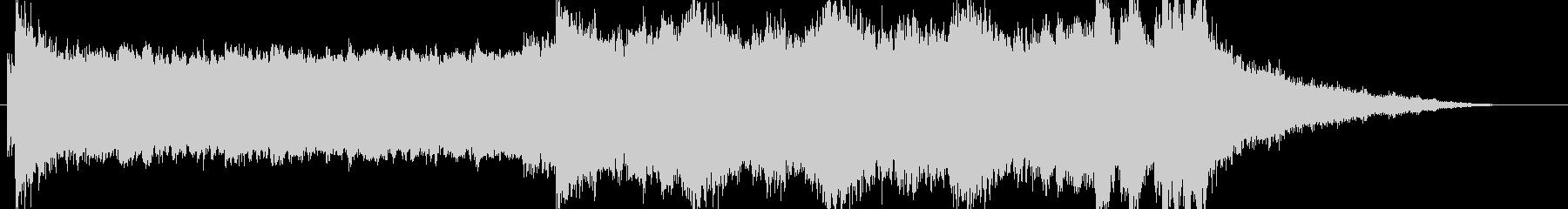 ラスボス用のゴシック調でダークなBGMの未再生の波形