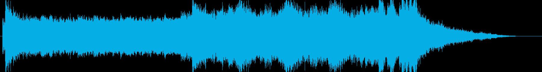 ラスボス用のゴシック調でダークなBGMの再生済みの波形