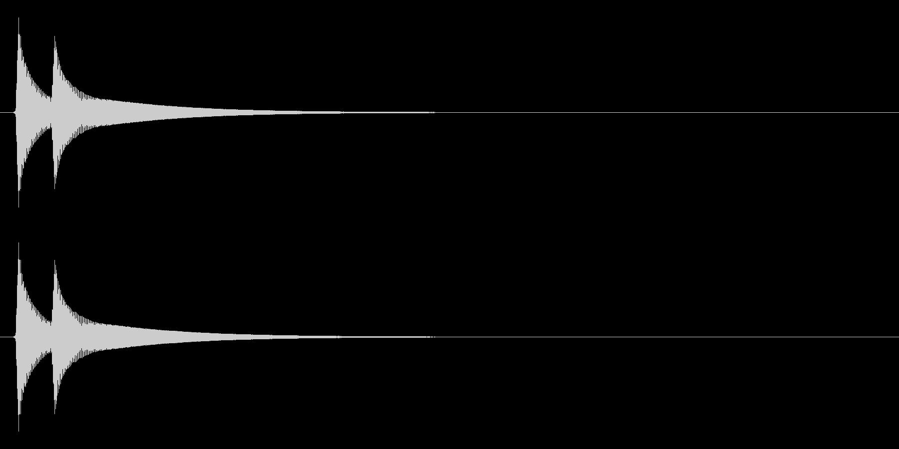 ピコーン↑(注目、解答ボタン)の未再生の波形