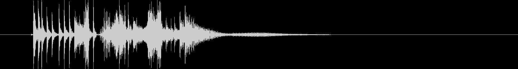 キュルルルドン!ドラムの音を高速再生の未再生の波形