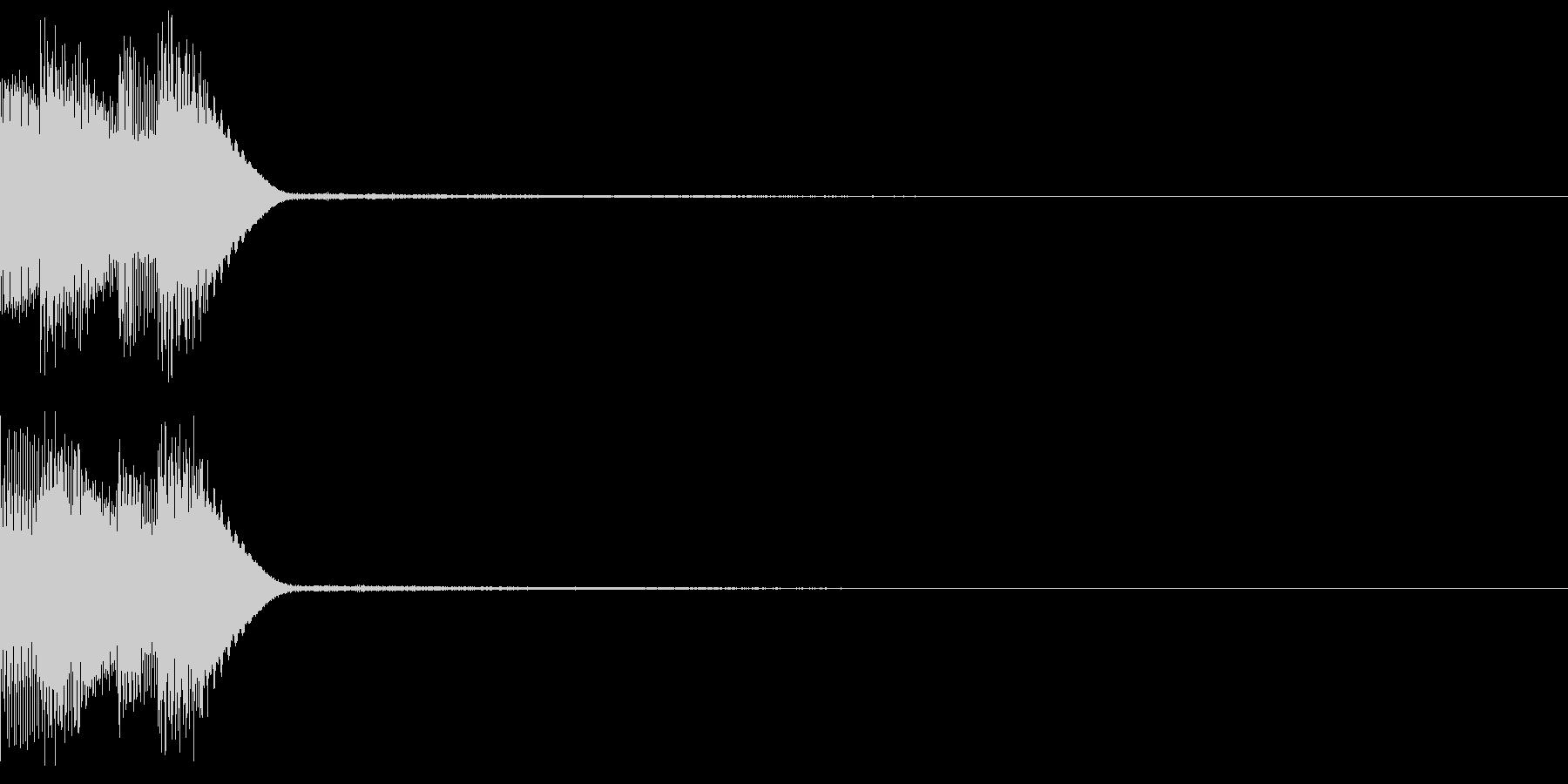 ボタン クリック コイン クレジット 6の未再生の波形