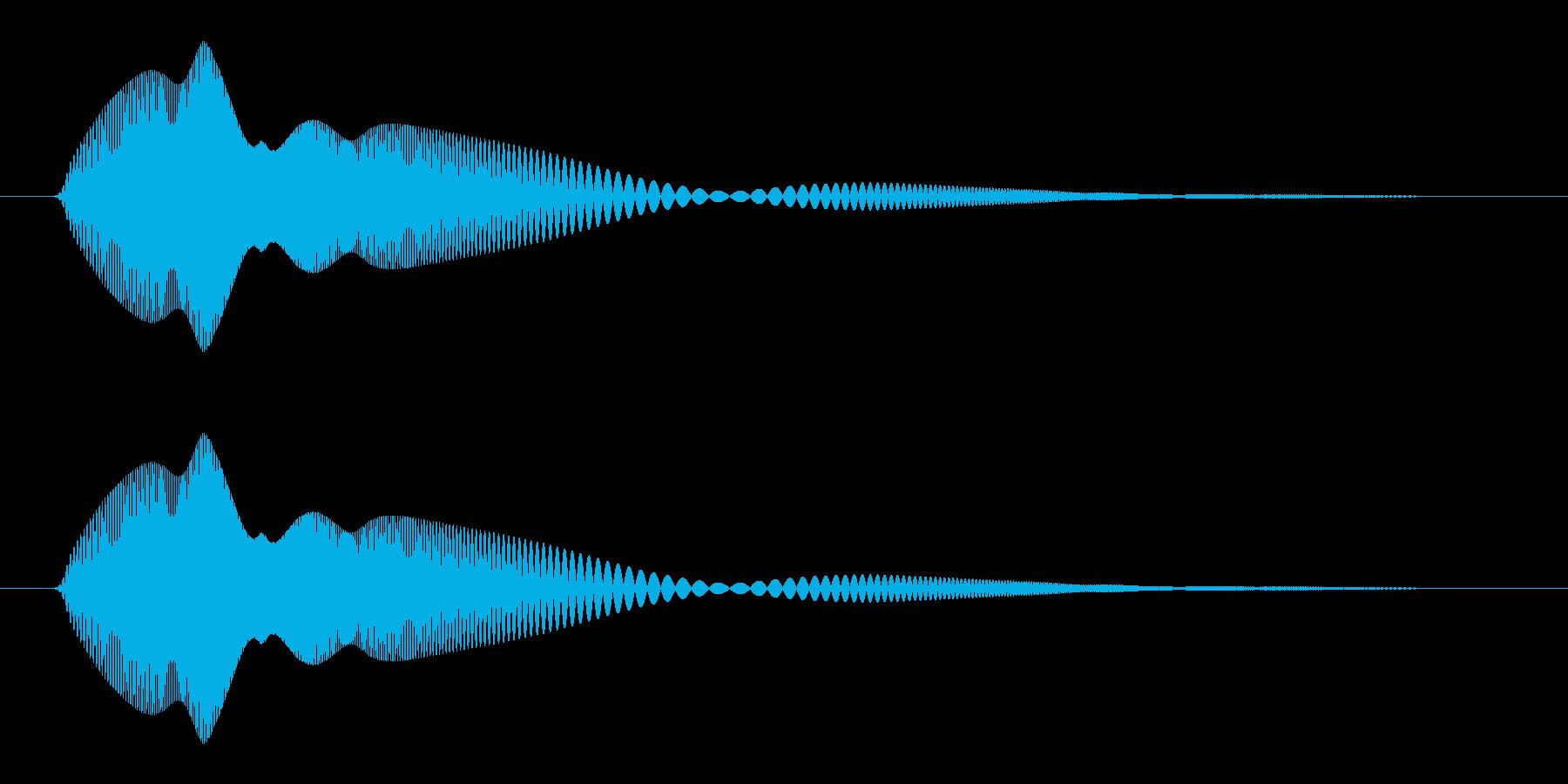 ぷにっとした、かわいい感じの足音_単発の再生済みの波形