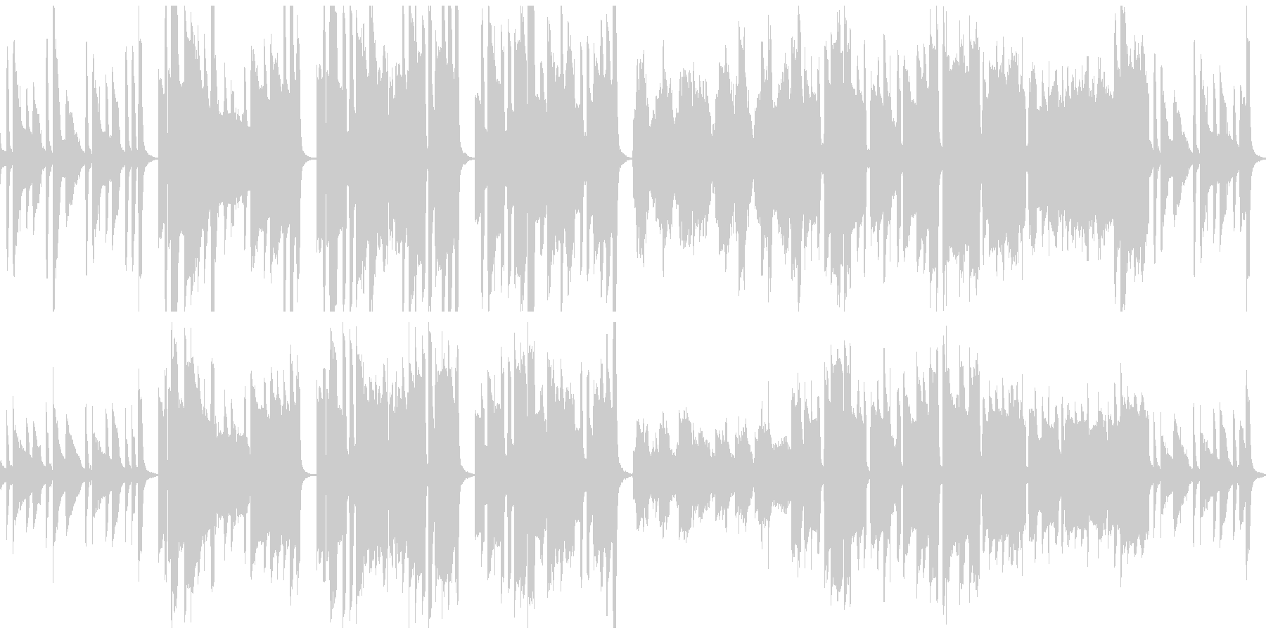 ほんわかな素朴BGM(ループ仕様)の未再生の波形