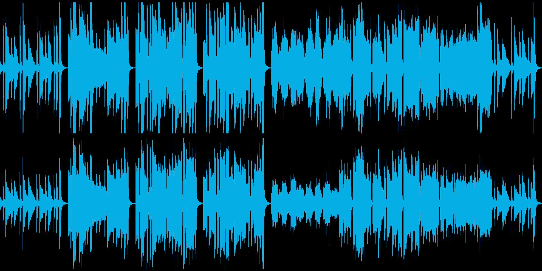 ほんわかな素朴BGM(ループ仕様)の再生済みの波形