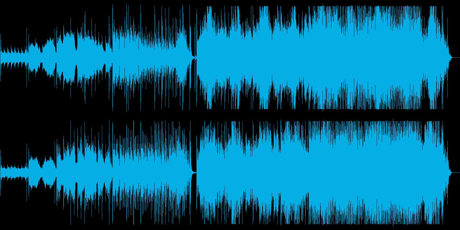 古風でアジアンなスローテンポの曲の再生済みの波形