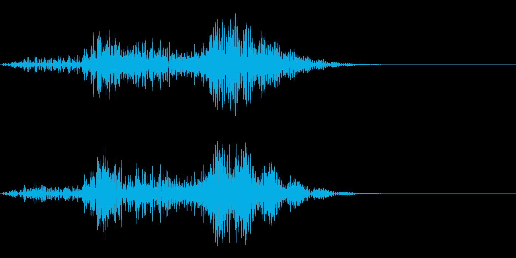 ホラーな演出に 33の再生済みの波形