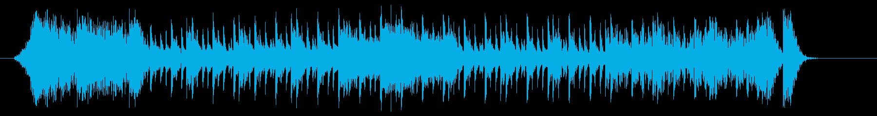 疾走感あるリズミカルなシンセジングルの再生済みの波形