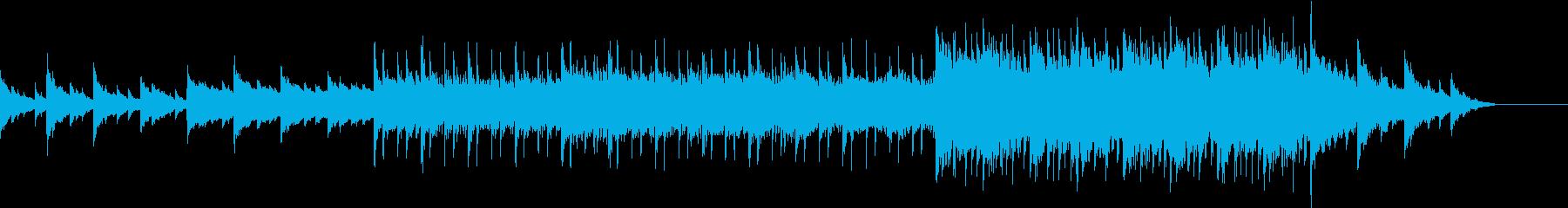 幻想的で綺麗なシンフォニック曲の再生済みの波形