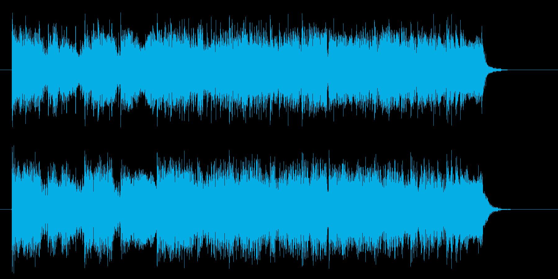 ビートが気持ちいいロックテイストの再生済みの波形