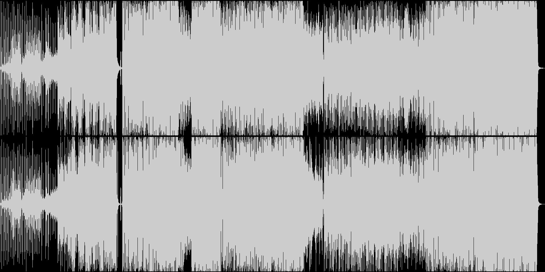 近未来的高級感溢れるデジタルサウンドの未再生の波形