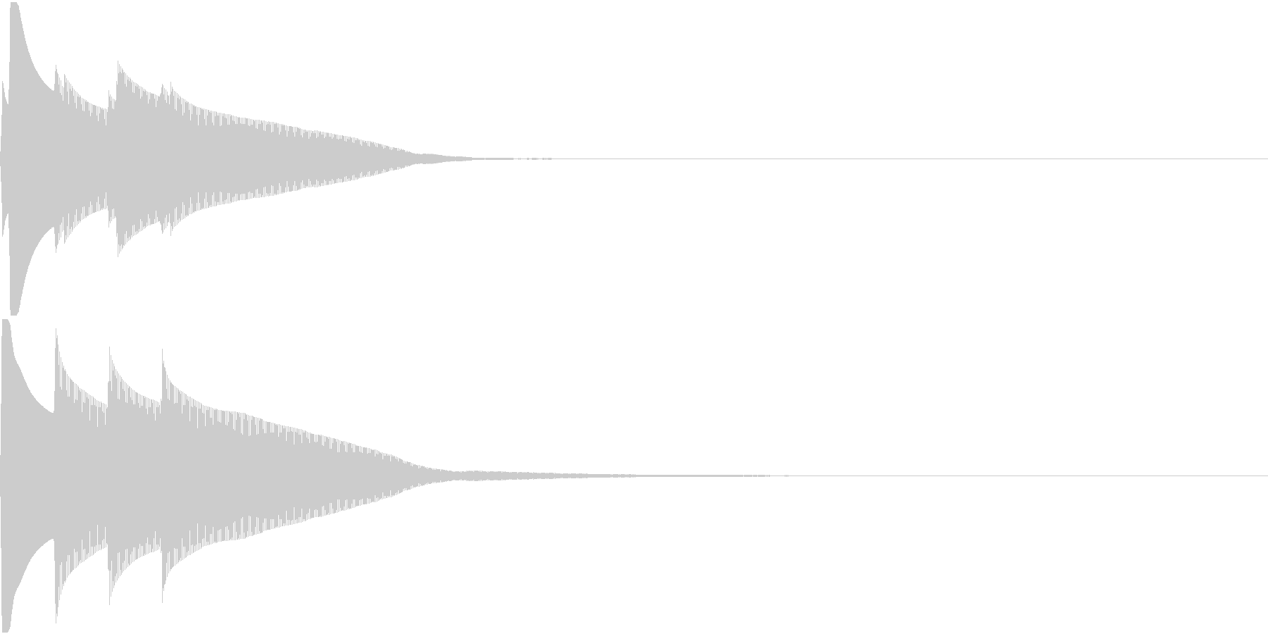 Quiz 正解 ピンポンピンポーン 高音の未再生の波形