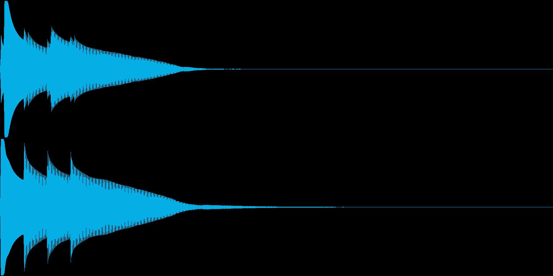 Quiz 正解 ピンポンピンポーン 高音の再生済みの波形