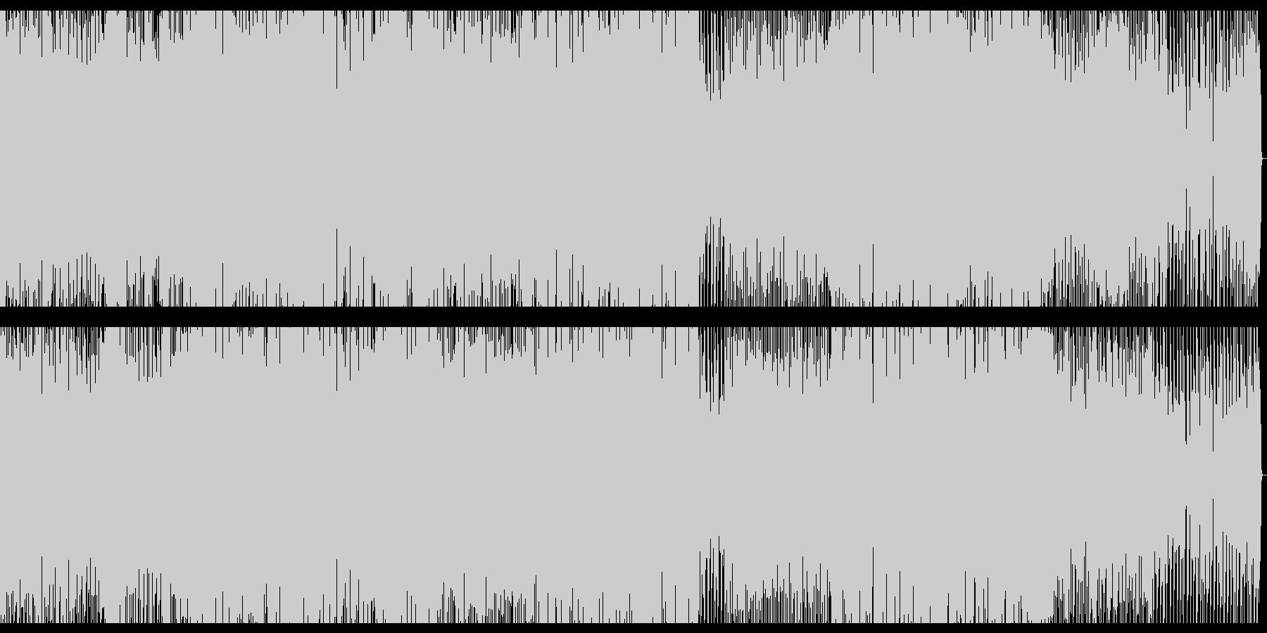 朝の目覚めをイメージしたEDMの未再生の波形