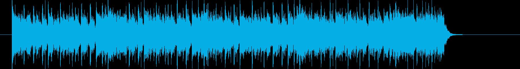 ベース音が印象的なシンセミュージックの再生済みの波形