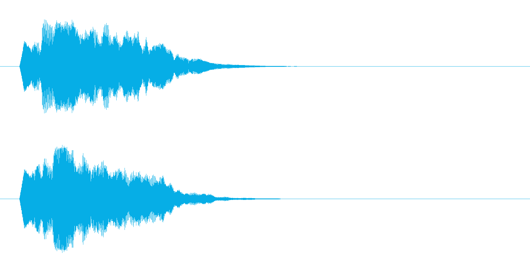ジングル/環境(清涼/場面転換)の再生済みの波形