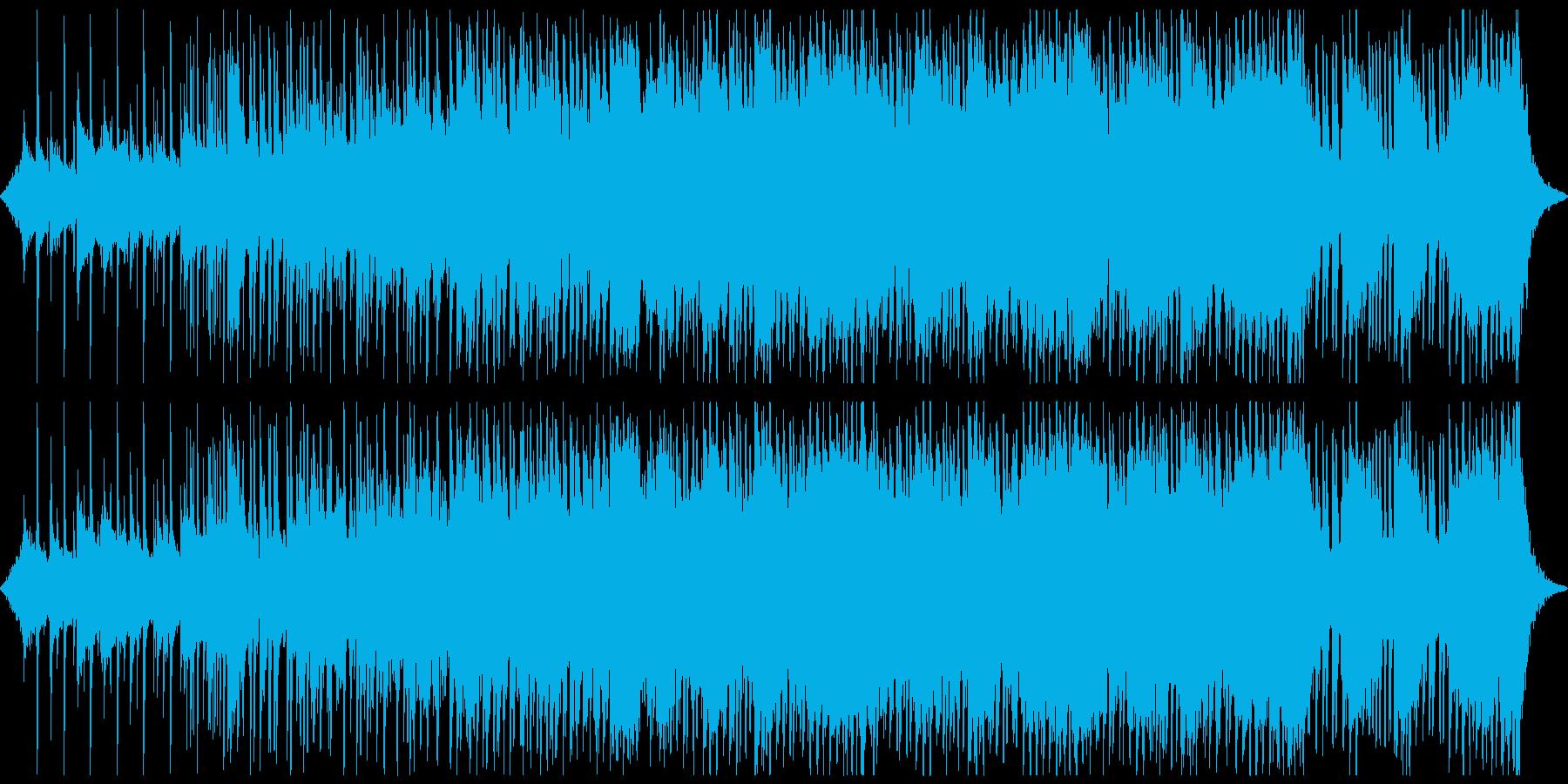 トラップ的な暗さとサイレンが響き渡る曲の再生済みの波形
