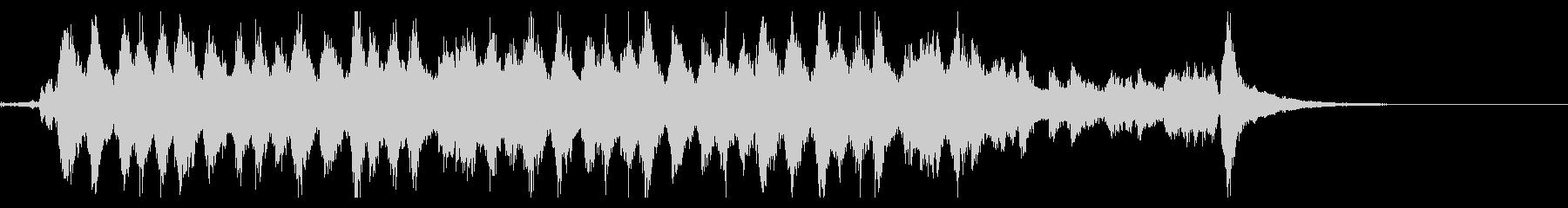 何かを成し遂げたような雰囲気のBGMの未再生の波形