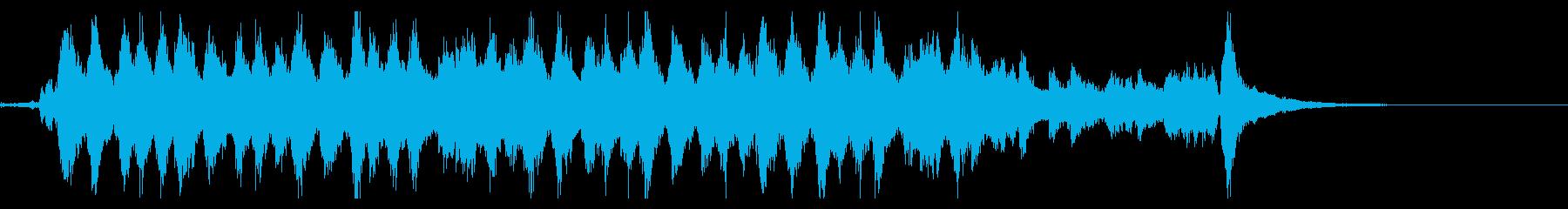 何かを成し遂げたような雰囲気のBGMの再生済みの波形