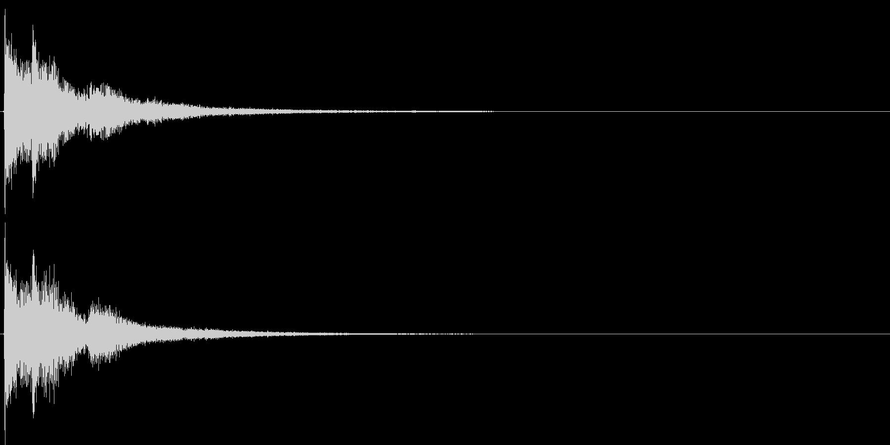 ジャジャン。クイズ出題・発表(デジタル)の未再生の波形