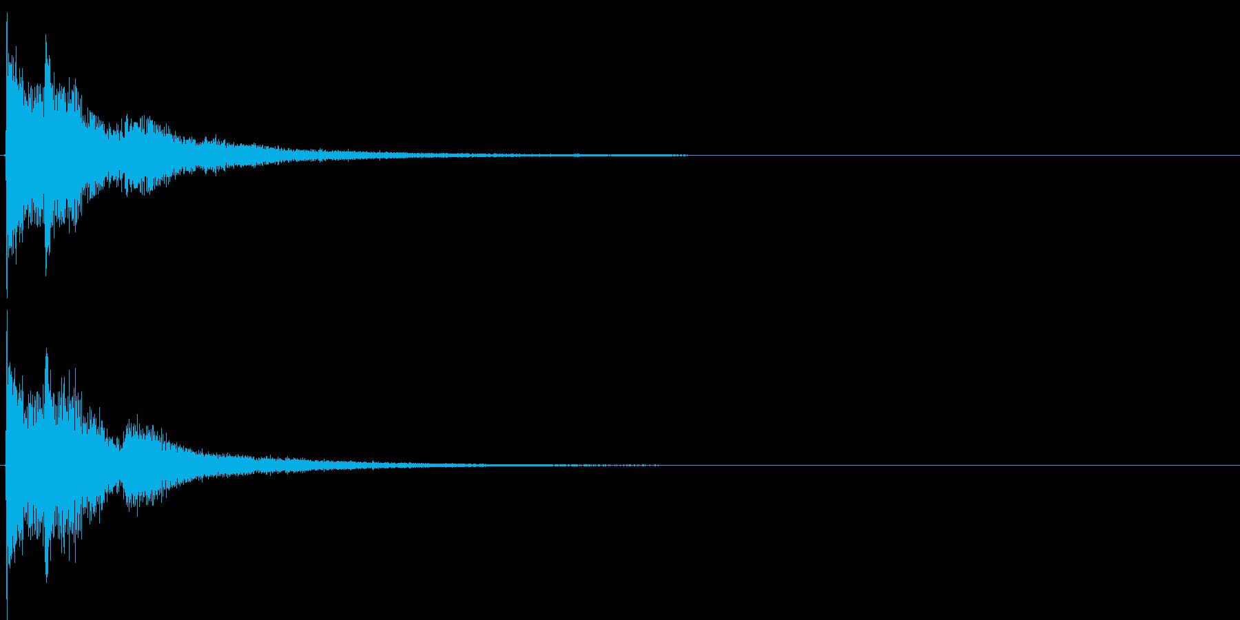 ジャジャン。クイズ出題・発表(デジタル)の再生済みの波形