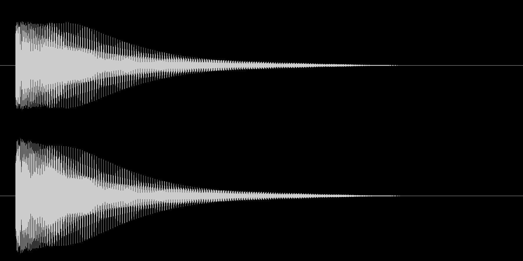 ティンーの未再生の波形