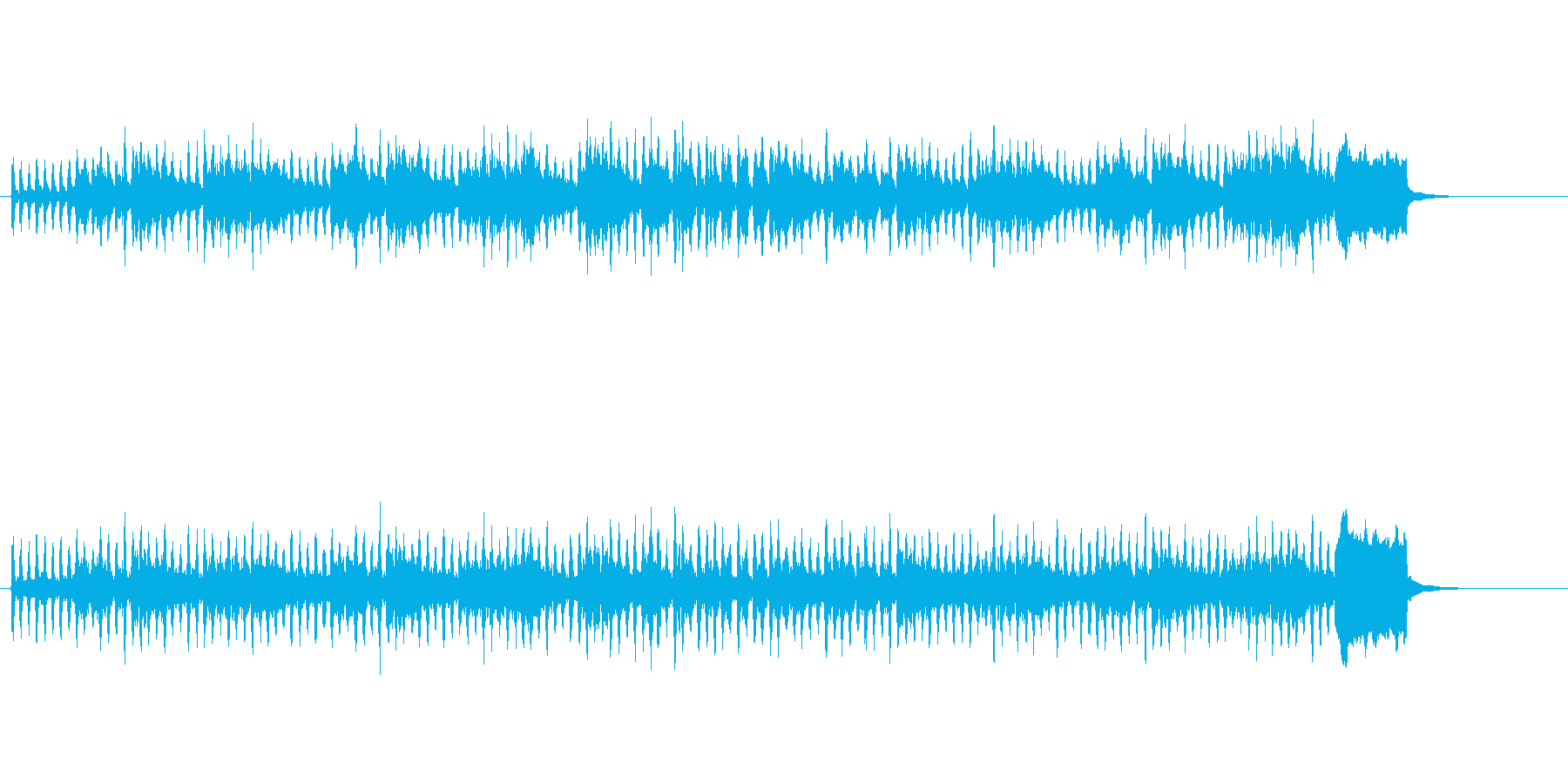 エレガントに奏でたクラシック風の再生済みの波形