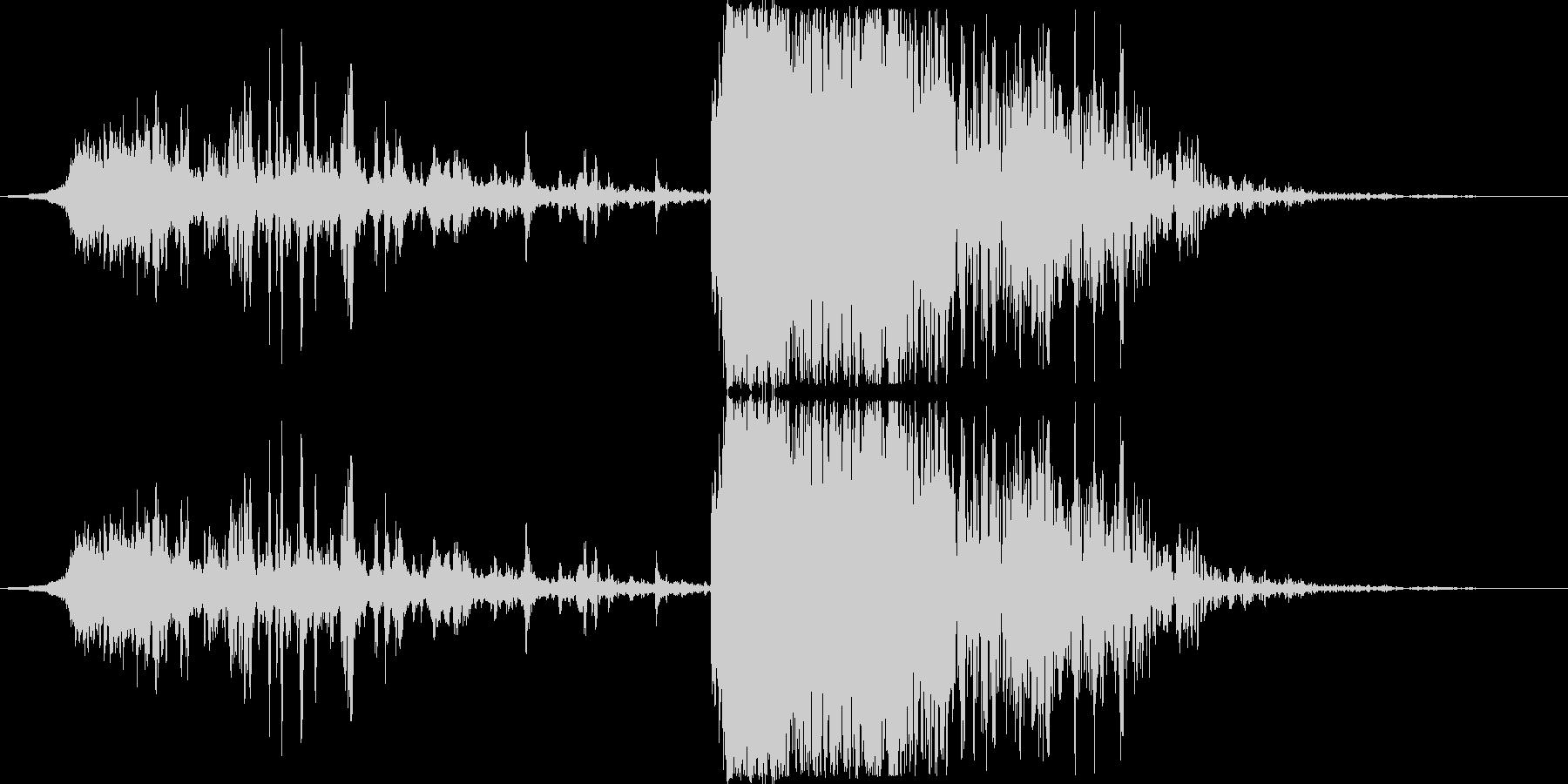 発射〜着弾のイメージ(ヒューン〜ドン)の未再生の波形