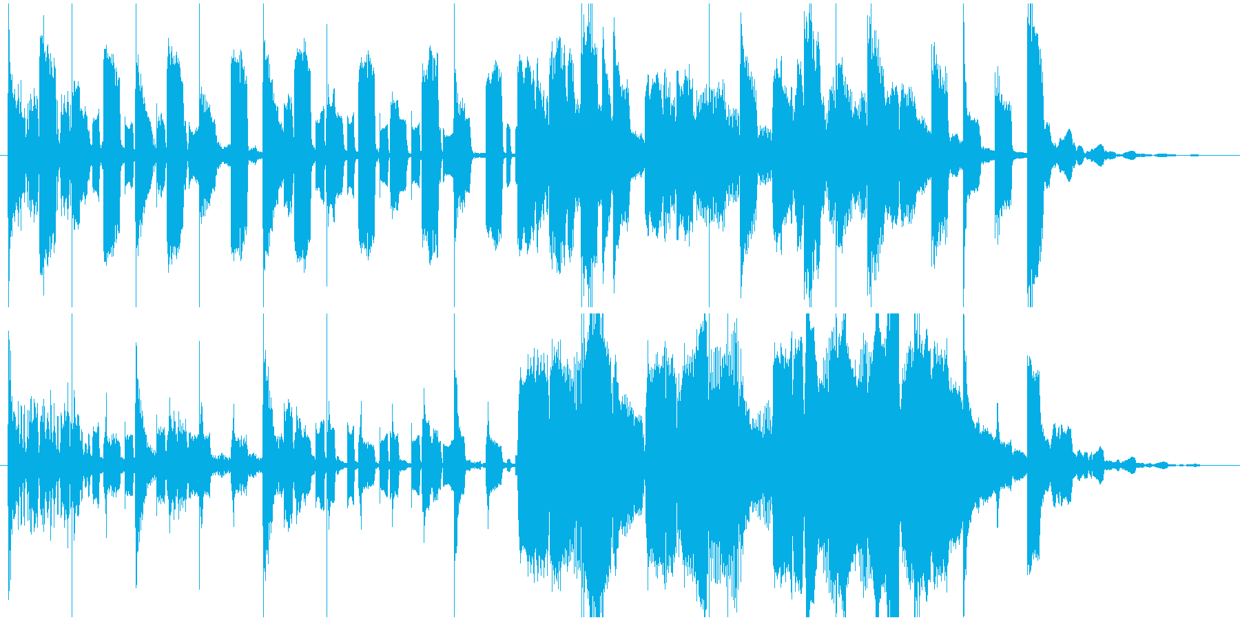 ほのぼの、コミカル、おとぼけなジングルの再生済みの波形
