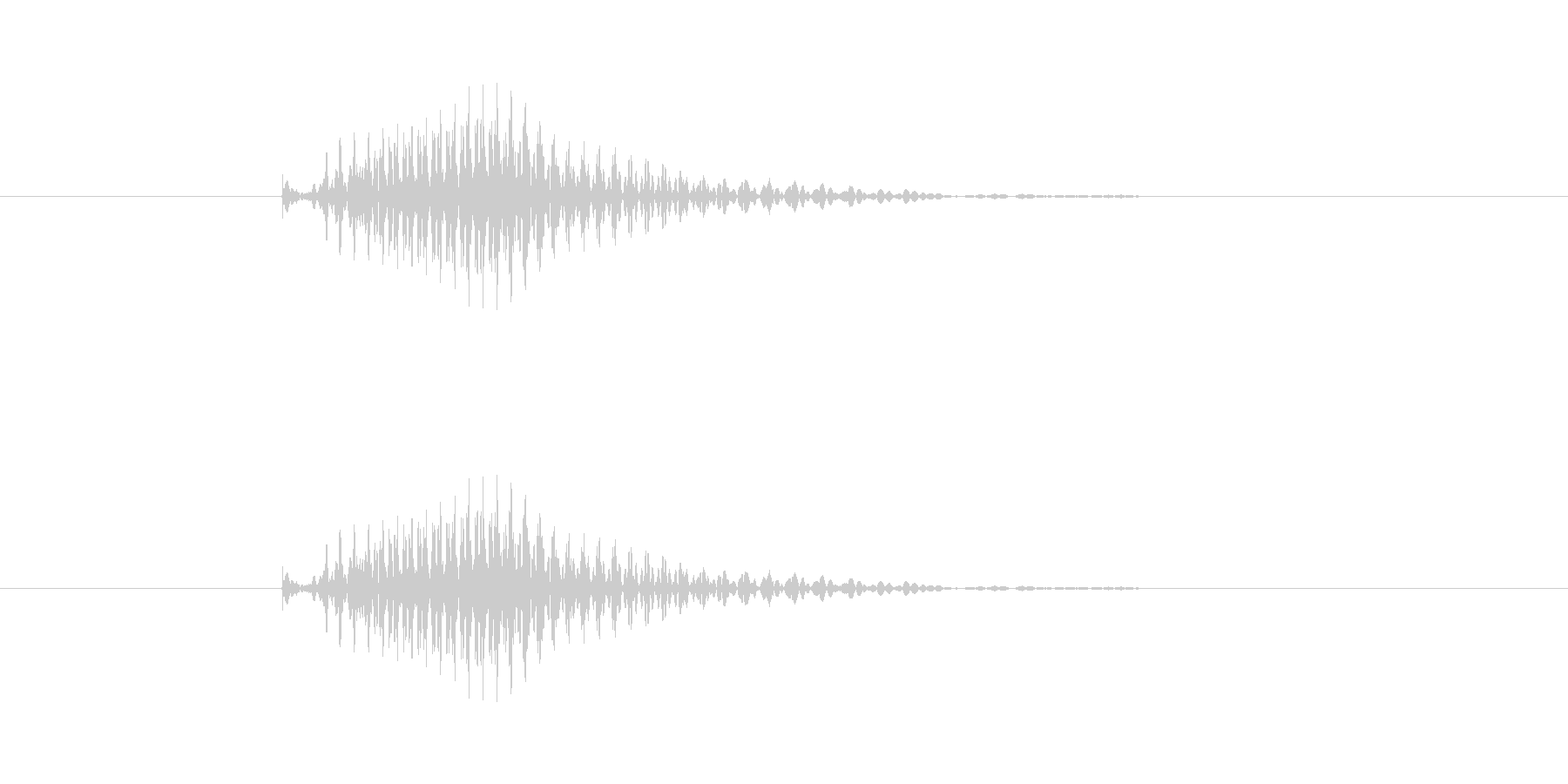 ポン(麻雀)の未再生の波形