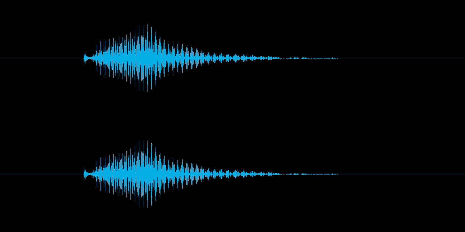 ポン(麻雀)の再生済みの波形