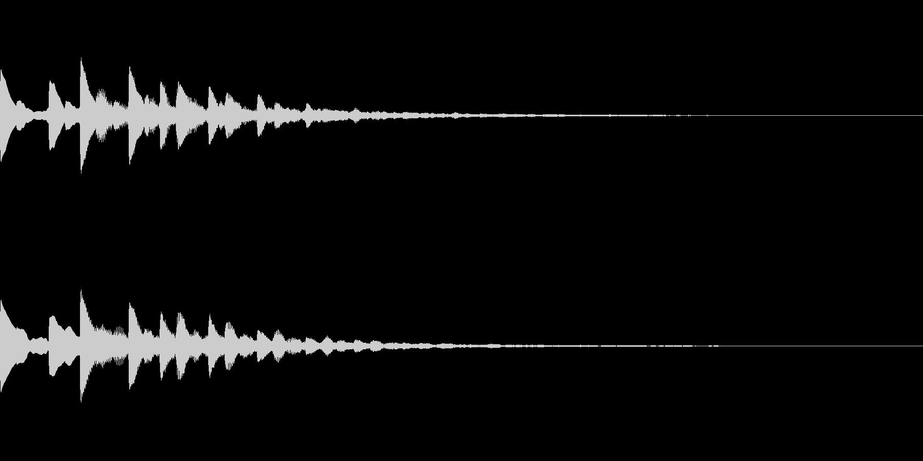 宇宙っぽいサウンドロゴ02の未再生の波形