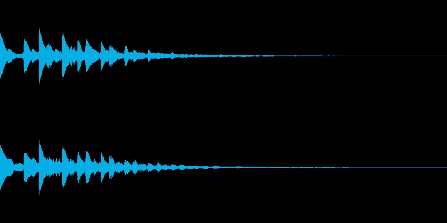 宇宙っぽいサウンドロゴ02の再生済みの波形