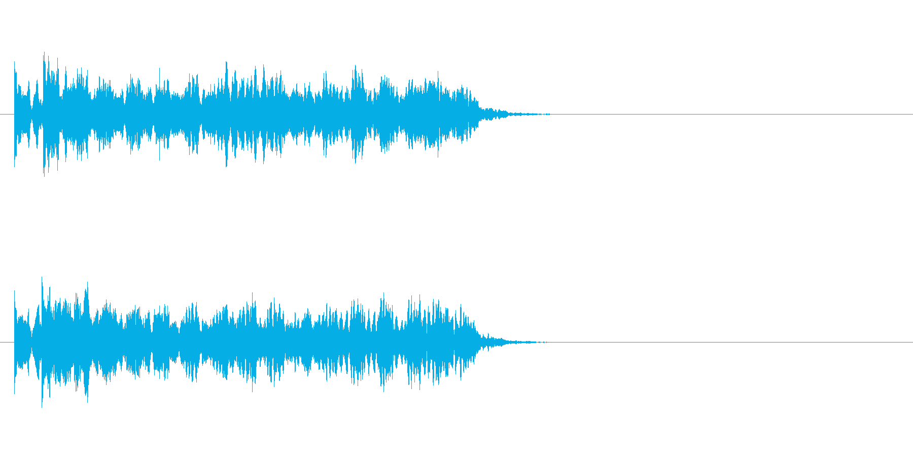 ピュンピュンピュン(魔法のビーム音)の再生済みの波形